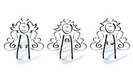 Três anjos Imagens de Stock