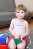Três anos de criança idosa no jogo Imagem de Stock Royalty Free