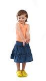 Três anos de menina idosa Imagem de Stock
