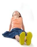 três anos de menina idosa que sun-bathing Imagens de Stock