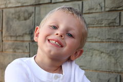 Três anos felizes do menino idoso Fotos de Stock Royalty Free