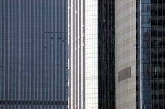 Três arranha-céus - close up Fotos de Stock Royalty Free