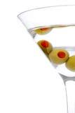 Três azeitona Martini Fotografia de Stock
