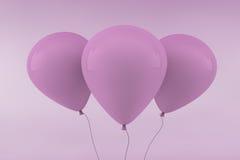 Três balões cor-de-rosa ilustração stock