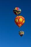 Três balões de ar quente Fotos de Stock Royalty Free