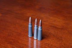 Três balas imagem de stock royalty free