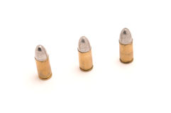 Três balas Fotografia de Stock