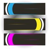 Três bandeiras coloridas Fotos de Stock Royalty Free