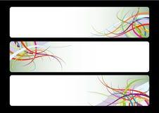 Três bandeiras com projeto abstrato Fotografia de Stock Royalty Free
