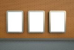Três bandeiras de parede Fotografia de Stock