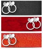 Três bandeiras do amor Imagem de Stock Royalty Free