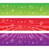 Três bandeiras do Natal. Imagens de Stock