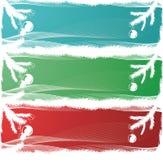 Três bandeiras do Natal Imagens de Stock
