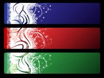 Três bandeiras do vetor do Natal Fotografia de Stock