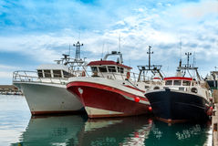 Três barcos de pesca Imagem de Stock Royalty Free