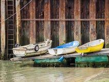 Três barcos em Aberdovey Foto de Stock