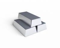 Três barras de prata Fotos de Stock