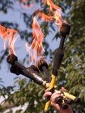 Três bastões do fogo Foto de Stock