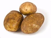 Três batatas Fotografia de Stock