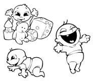 Três bebês Imagem de Stock