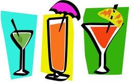 três bebidas contemporâneas Foto de Stock Royalty Free