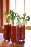 Três bebidas do cocktail de Mary sangrenta Imagens de Stock
