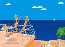 Três benevolências no mar Fotos de Stock Royalty Free