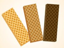 Três bolachas da baunilha e do chocolate Ilustração do vetor, eps 10 ilustração do vetor