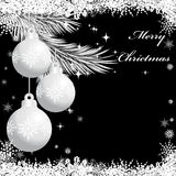 Três bolas de prata do Natal Fotografia de Stock Royalty Free