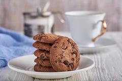 Três bolinhos do chocolate Imagens de Stock