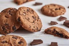 Três bolinhos do chocolate Imagens de Stock Royalty Free