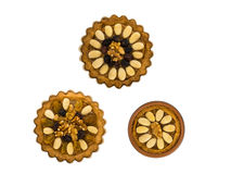 Três bolos poloneses tradicionais pequenos da Páscoa Fotografia de Stock Royalty Free