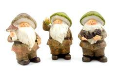 Três bonecas de pedra do outono Fotografia de Stock Royalty Free