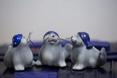 Três bonecas de Penquins imagens de stock royalty free