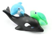 Três brinquedos do banho Foto de Stock Royalty Free