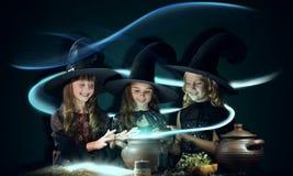 Três bruxas pequenas imagens de stock royalty free