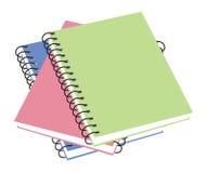 Três cadernos Imagens de Stock