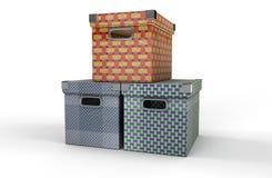 Três caixas Imagens de Stock