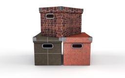 Três caixas Fotografia de Stock