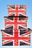 Três caixas britânicas Fotografia de Stock
