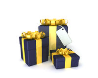 Três caixas de presente Foto de Stock Royalty Free