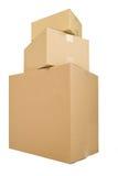 Três caixas de transporte Fotos de Stock Royalty Free