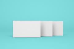 Três caixas dos comprimidos no fundo de turquesa Foto de Stock