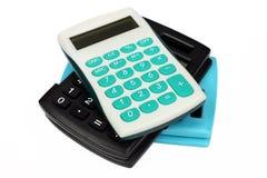 Três calculadoras coloridas Imagem de Stock