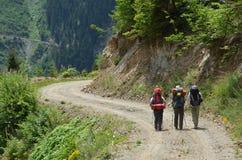 Três caminhantes Foto de Stock Royalty Free