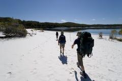 Três caminhantes em Austrália 1 Fotografia de Stock