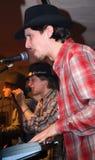 Três cantores Fotos de Stock