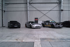 Três carros americanos Fotos de Stock Royalty Free