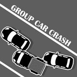 Três carros colidiram na estrada Fotos de Stock