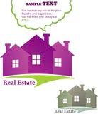 Três casas (bens imobiliários) Imagem de Stock